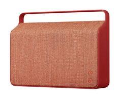 Scopri Diffusore bluetooth Copenhague -/ Senza fili - Tessuto & manico in alluminio, Rosso di Vifa, Made In Design Italia
