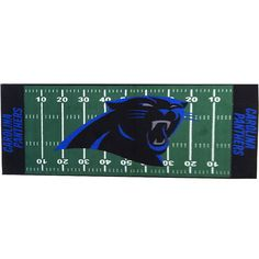Carolina Panthers   Carolina Panthers Runner Rug   NFL Football Accent  Floor Mat