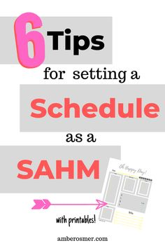 6 tips for setting a schedule as a SAHM. Time management tips for a simple daily routine with kids. Overwhelmed Mom, Personal Development Books, Toddler Schedule, Stay At Home Mom, Time Management Tips, Daily Affirmations, Planer, Free Printables, Encouragement