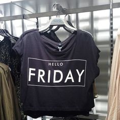 Hello Friday :)