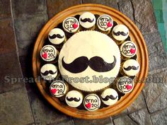 Mustache cake cupcakes leave would have to change the ones with the hearts to something baby