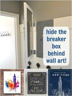 23 best hide a fuse box images breaker box, covered boxes, diy Blown Fuse hide fuse box behind wall art clutter free home, decorating your home, phone