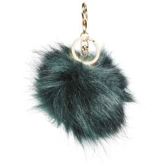 Women's Bp. Faux Fur Pom Bag Charm ($8.04) ❤ liked on Polyvore featuring accessories, teal and pom pom key ring