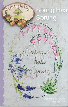 Spring has sprung stitchery pattern crabapple hill studio spring has