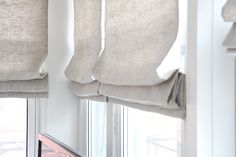 Soft lined roman blinds