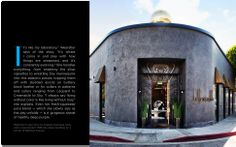 Kelly Wearstler's exterior of her LA boutique......love the bronze overhangs, marble door casing and base......gold details......portholes - pretty perfect.
