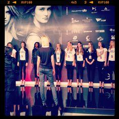 Behind the scenes at the Elite Model Look World Final preparations in Shanghai...