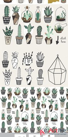 Gorgeous succulents, cactus planner doodles and bullet journal drawings - Doodle and Draw - Cactus Cactus Drawing, Plant Drawing, Painting & Drawing, Succulents Drawing, Succulents Art, Doodle Drawings, Cute Drawings, Doodle Art, Inspiration Art