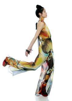 Cosmic print Chiffon Jumper, Carmelita Couture
