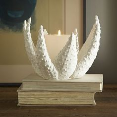 I love the Ceramic Matters Candleholder - Aloe on westelm.com