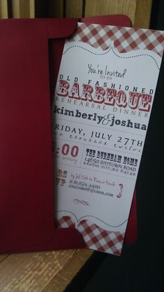 Old Fashioned BBQ Rehearsal Dinner Invitation by designscents on Etsy, $1.75
