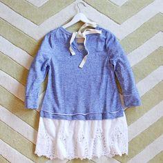 Fall Tale Lace Sweatshirt in Blue: Alternate View #4