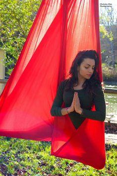 #yoga #Antigravity #red #green #thinkpositive