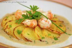 Rosaces de pommes de terre aux langoustines - Péché de gourmandise !