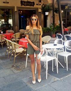 Gatta Vaidosa: Meu look: Macaquinho curto verde