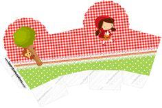 Caixa Cupcake Chapeuzinho Vermelho