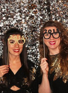 New Year's Eve Photo Booth Props #DIY