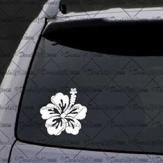 Proud Army Grandmother Hibiscus Flowers Car or Truck Window Laptop Decal Sticker