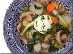 Warm Weather Vegetable Pot-Au-Feu, Dorie Greenspan (with poached egg on top! Dorie Greenspan, French Table, Mouth Watering Food, Homemade Soup, Cook At Home, Healthy Dishes, Poached Eggs, Egg Recipes, Soups And Stews
