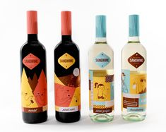 Retro California Vino Branding - The Sangwine Packaging Design Celebrates the Sunshine State Retro Packaging, Beverage Packaging, Bottle Packaging, Brand Packaging, Packaging Design, Vintage Branding, Wine Bottle Design, Wine Label Design, Wine Bottle Labels