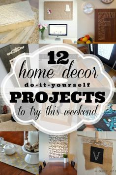 12 Home Decor DIYs t