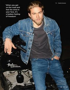 Apologise, but Charlie hunnam naked on a harley can