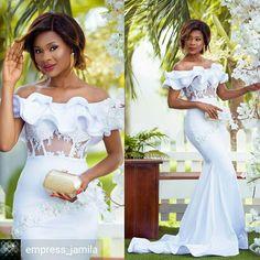 white prom dresses, off the shoulder prom dresses, mermaid lace evening dresses Wedding Dresses From China, Bridal Dresses, Wedding Gowns, Prom Dresses, Wedding Hijab, Wedding Cakes, Wedding Venues, Short Dresses, African Fashion Dresses