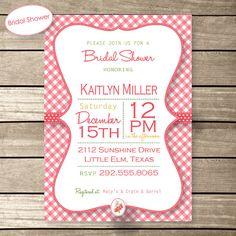 Gingham Girl Personalized Birthday Baby Shower or by DigitalPapier, $10.00