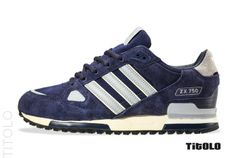 Adidas ZX 750 - Marine / Medium Grey / Metallic silver - 2014