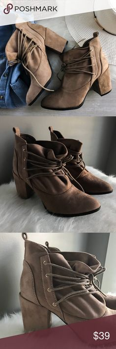Spotted while shopping on Poshmark: єℓαяα << slouchy ankle wrap booties! #poshmark #fashion #shopping #style #Shoes