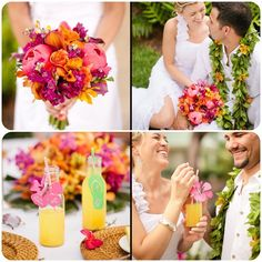 Have a happy and vibrantly colorful weekend! Bliss In Bloom #Hawaii #Weddings www.blissinbloom.com