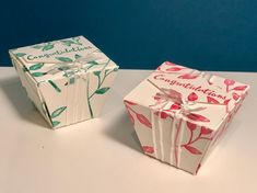 Lidded Trapezoid Box - Video Tutorial with Petal Palate by Stampin' Up.