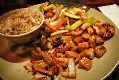 Hibachi chicken. Looks delish