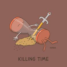 Killing time :) Image by: Dings & Doodles-Keren Rosen קרן רוזן