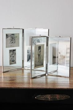 Glass Double Photo Frame - Small or Large
