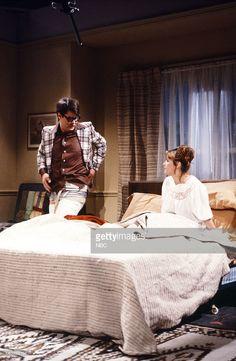 Gilda Radner as Beverly, Dan Aykroyd as The Flash, Bill Murray as Superman, Margot Kidder as Lois Lane during the 'Lois Lane' skit on March 17, 1979 --