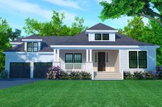 The Cedar Grove is offered by SDC House Plans. View more Single Story House Plans on the SDC website. Cottage House Plans, New House Plans, House Floor Plans, Small Cottage Homes, Porch House Plans, Master Suite, Future House, My House, Farm House