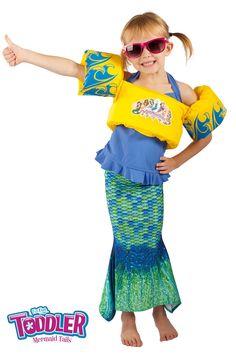 Toddler Mermaid Tail & Life Jacket - Toddler Mermaid Tails - Mermaid Tails