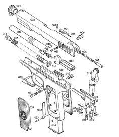 Colt Handguns Exploded Gun Drawings Digital (PDF) Download