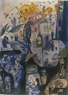 Los primeros días de la primavera - S. Dalí - 1922-1923 - En la residencia de estudiantes de Madrid entabla amistad con Lorca, Buñuel y Pepín Bello. En estos momentos elabora una serie de obras con escenas de la vida nocturna madrileña.