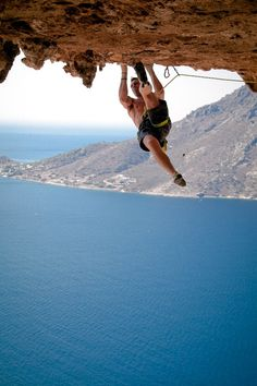 Climbing with a view!