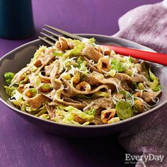 Brown Butter and Brussel Sprouts Fettuccine