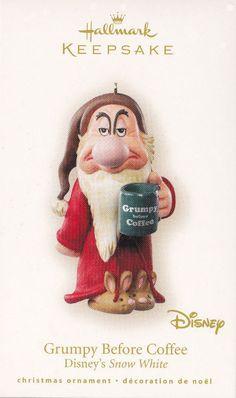 2007 Hallmark Ornaments Grumpy Before Coffee Disney