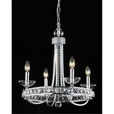 Crystal Chandelier Pendant Light Ceiling Lamp Candle Feature with 4 Lights | eBay