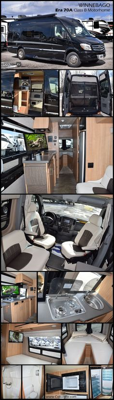 The WINNEBAGO TOURING COACH ERA Class B motorhome just keeps getting better and even more innovative! This popular Mercedes-Benz chassis 70A floor plan delivers a full-featured RV experience with incredible fuel efficiency.