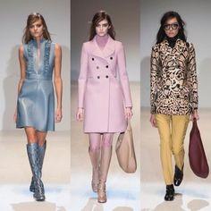 Gucci pone su mirada en el movimiento Swinging London, en sus vestidos de línea A, sus perfectas botas por la rodilla, sus chaquetones de pelo y sus perfectos abrigos de lineas minimal. Todo ello en unos bonitos colores pastel que hacen la colección de otoño-invierno de Gucci una de las favoritas para mirar y desear.
