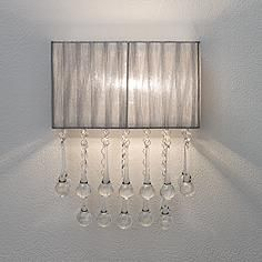 "dining room?? Possini Euro Design Silver and Crystal 14"" High Wall Sconce"