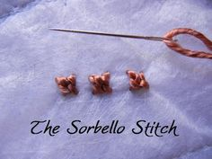 The Sorbello Stitch, great pictures.