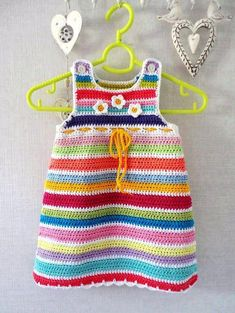 Ideas For Crochet Patterns Free Baby Girl Dress Sweets Crochet Toddler, Baby Girl Crochet, Crochet Baby Clothes, Crochet For Kids, Col Crochet, Crochet Hooks, Free Crochet, Crochet Romper, Crochet Dresses