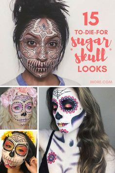 These Day of the Dead makeup tutorials and gorgeous sugar skull how-tos are perfect for Halloween.